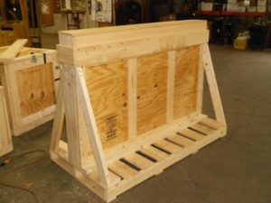 Typical crate for shipping glass