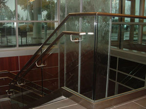 Tempered glass railing