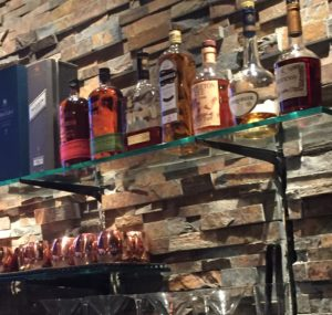 Glass Shelves at Kona Grille