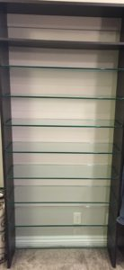 Tempered Glass Shelves w/ pencil polished edge