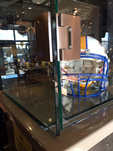 Buffalo Wild Wings UV bonded glass display case