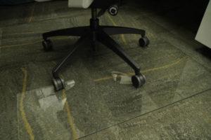 Glass office floor mats