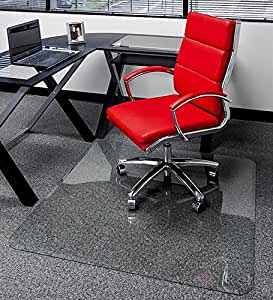 Glass office floor mats
