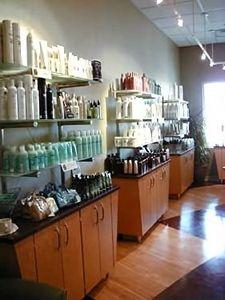 Salon retail frosted glass M. Constantino Salon Omaha, NE