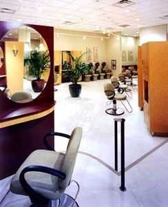 Mirrors in beauty salon M. Constantino Salon Omaha, NE
